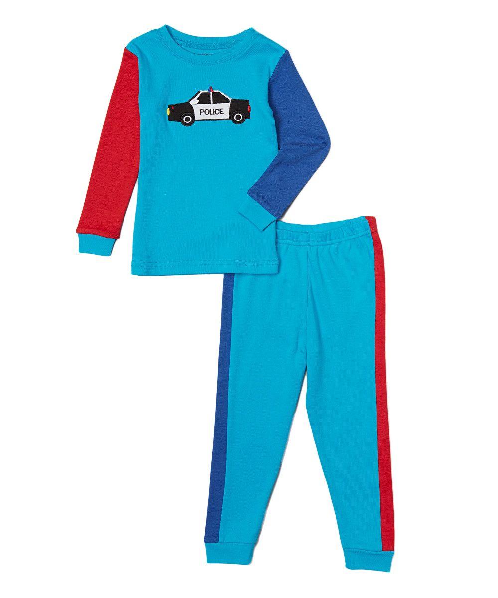 46cc22c23 Blue   Red Cop Car Pajama Set - Infant   Toddler
