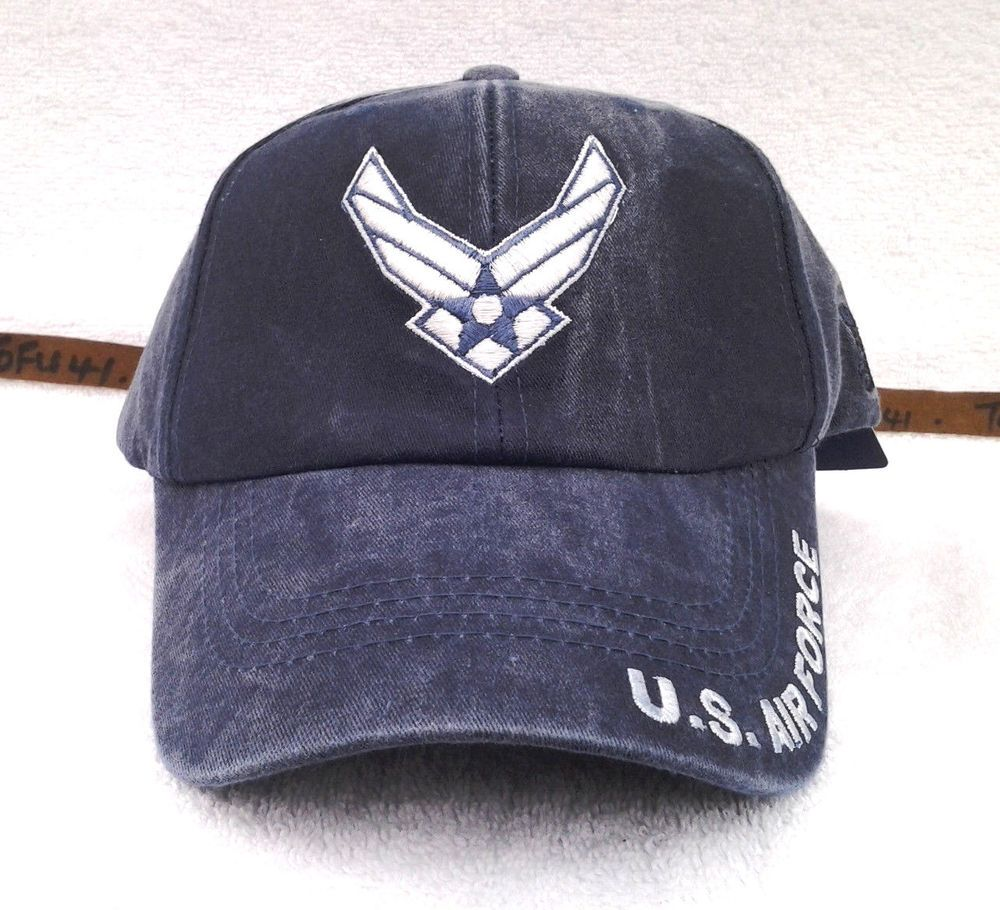 49e7159074c US AIR FORCE WINGS Military Veteran STONE WASHED BLUE Hat 5910 MTEC  Eagle   BaseballCap