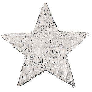 New Silver Foil Star Pinata