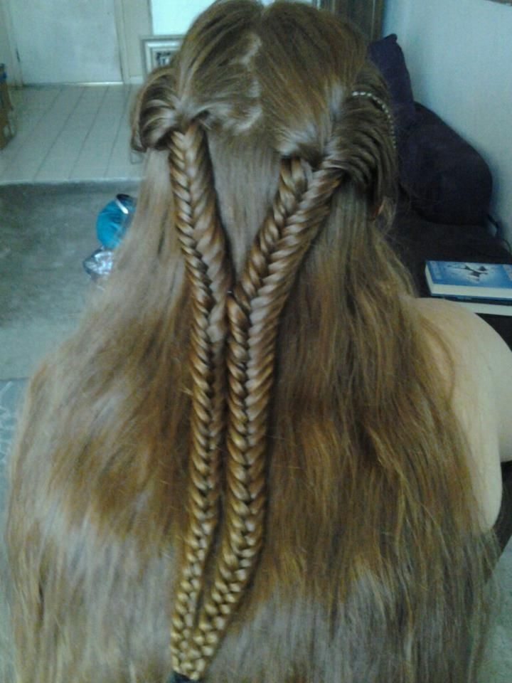 Double 2 Strand Braid Hairy Up N Do Pinterest Braids