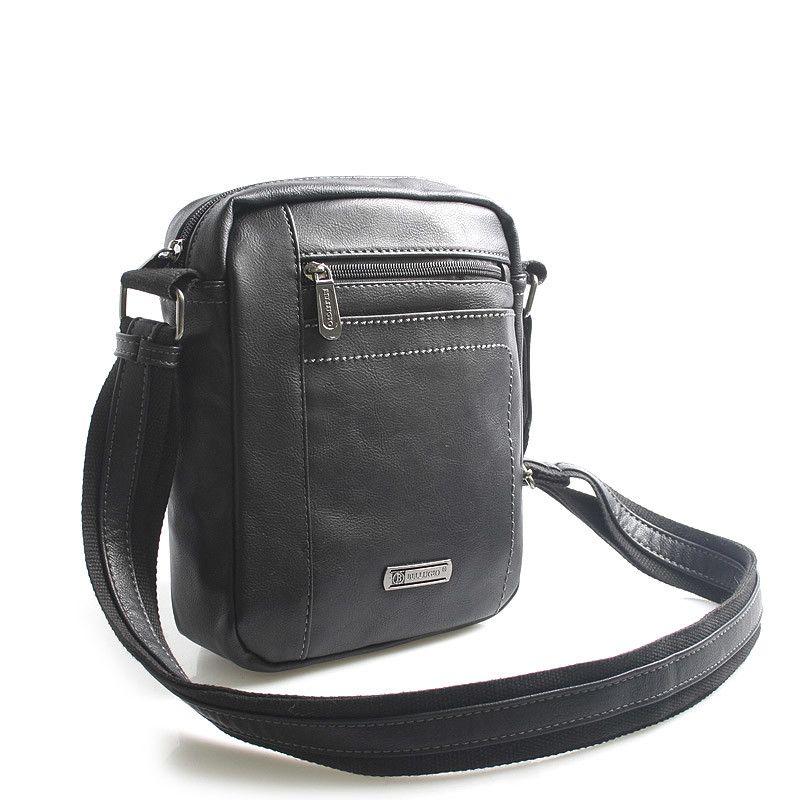 0f633a73437  taška  doklady Černá stylová taštička na doklady přes rameno Bellugio.  Hlavní kapsa je