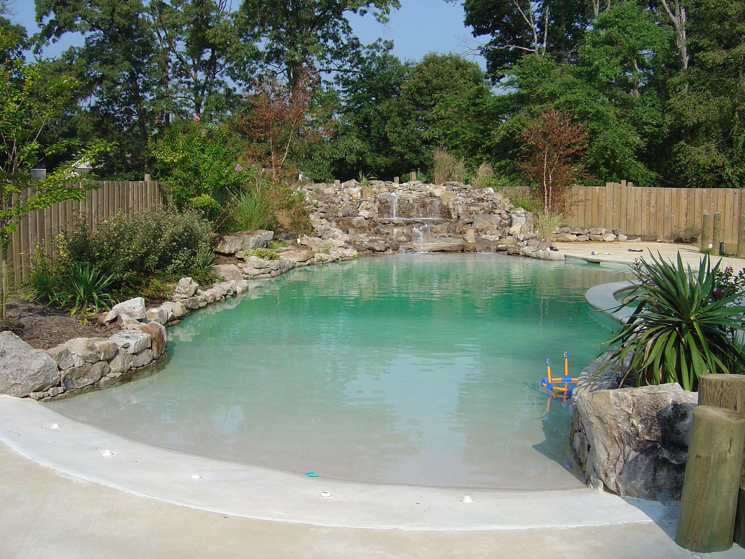 Large Pool Waterfall Vistaprolandscape Com Pool Landscaping Backyard Pool Backyard Pool Landscaping