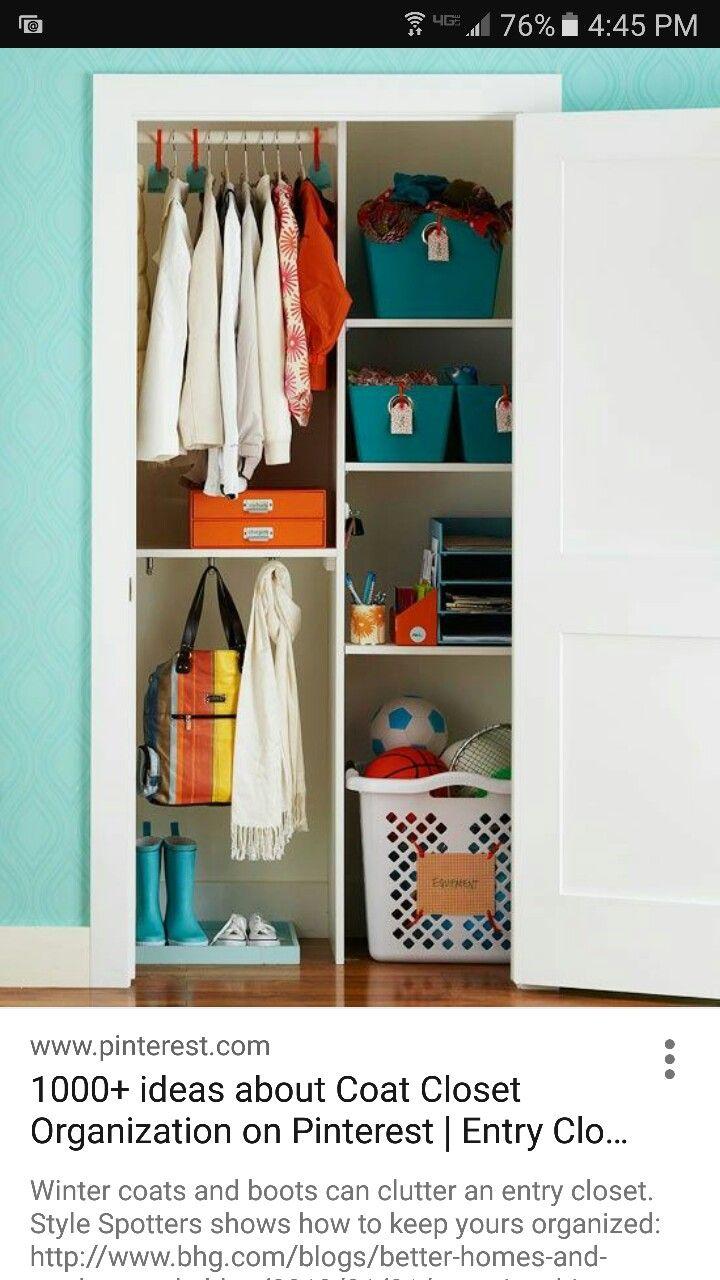 Hall Closet Half Rods Half Shelves Coat Closet Organization Entry Closet Entry Closet Organization