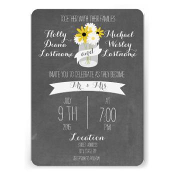 Photo of Tafel + Weckglas-Wildblumen, die Einladung Wedding sind | Za…