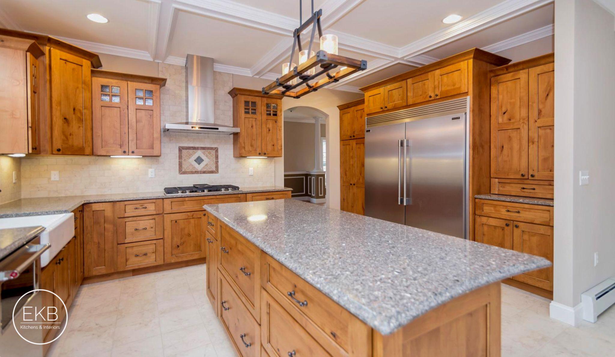 Elegant Glazed Knotty Alder Cabinets