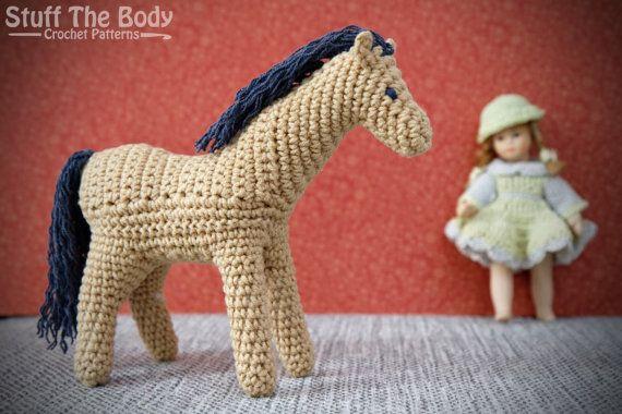 Curly Pony amigurumi crochet pattern Horse by StuffTheBody on Etsy