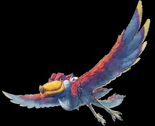 Les Célestriers sont de très grands oiseaux, semblables aux bec-en-sabot, très colorés et intelligents qui servent de monture aux Hyliens dans Skyward Sword.
