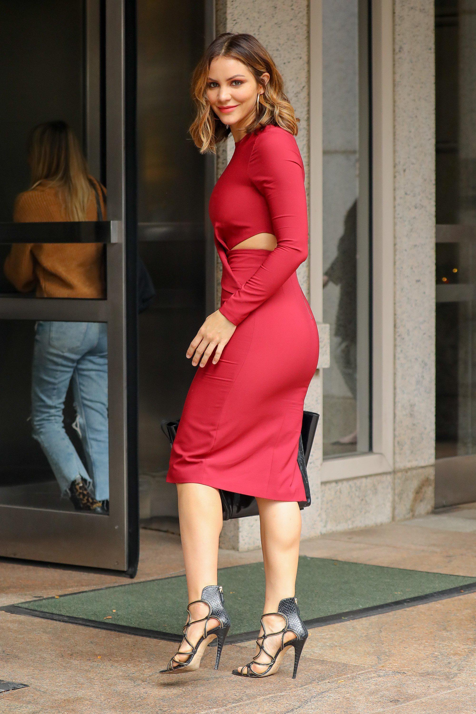 Katharine Mcphee Tight Red Dress Red Dress Dresses