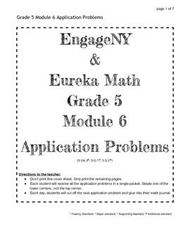 EngageNY Grade 5 Module 6 Application Problems | 5th Grade