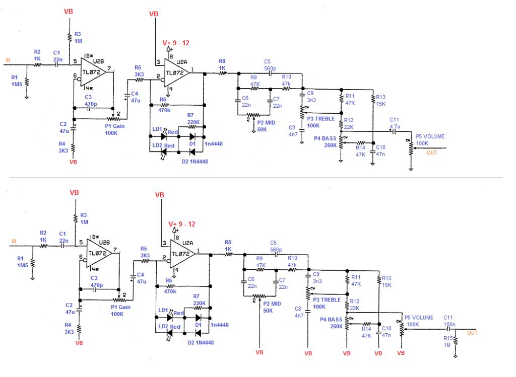 guitar distortion pedal schematic
