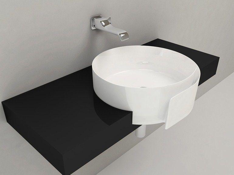 Ceramica Flaminia Roll.Lavabo A Semincasso In Ceramica Roll 56 Linea Roll By