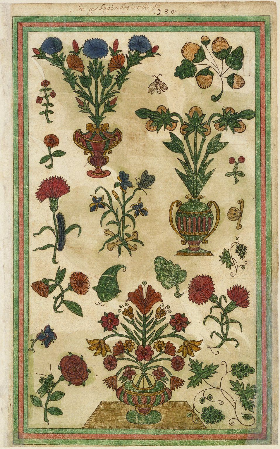 Thomas trevelyon miscellany 1608 folger stylized flowers thomas trevelyon miscellany 1608 folger embroidery bankloansurffo Image collections