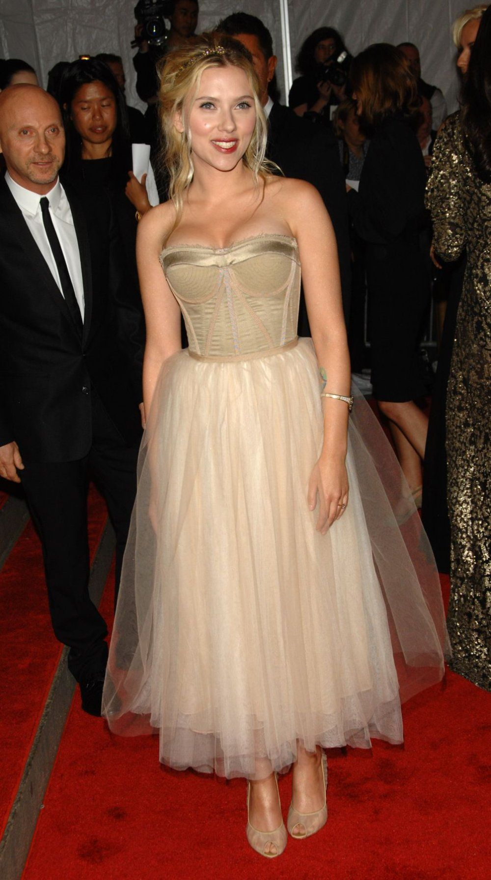 fairy princess realness...Scarlett Johansson at the Metropolitan Museum of Art's Costume Institute Gala