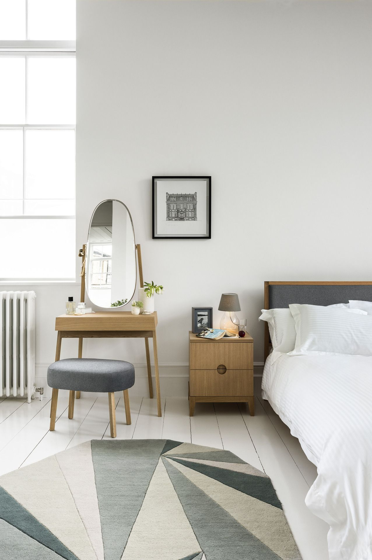 Calm Bedroom with grey tones keeps the space clean but warm Love