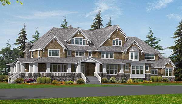 Luxury on 3 Levels Craftsman house plans, Craftsman