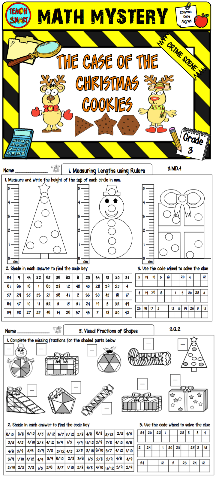 Math Mystery The Case of the Christmas Cookies Grade 3 | Mystery ...
