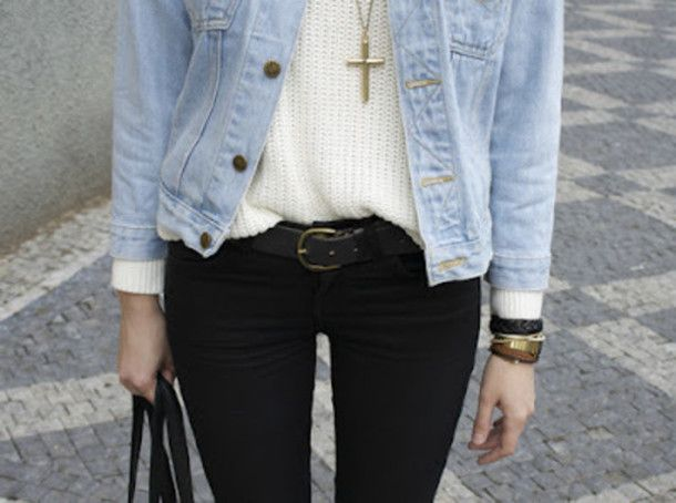 hqeag2-l-610x610-jacket-black+pants-denim+jacket-white+blouse-cross+necklace-gold+jewlery-sweater-blouse-jeans-belt-black-outfits-cool+girl+style.jpg (610×454)