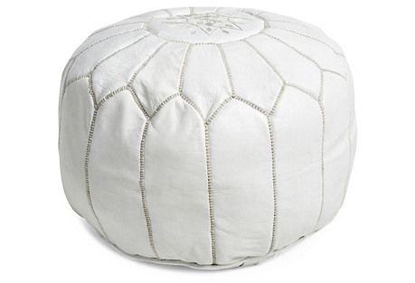 White Pouf Ottoman Sofas Chairs  Ottomans Shopwhite Leather Moroccan Round Pouf