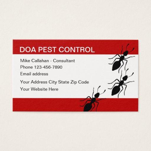 Pest Control Services Modern Design Business Card Zazzle Com Pest Control Services Pest Control Business Card Design