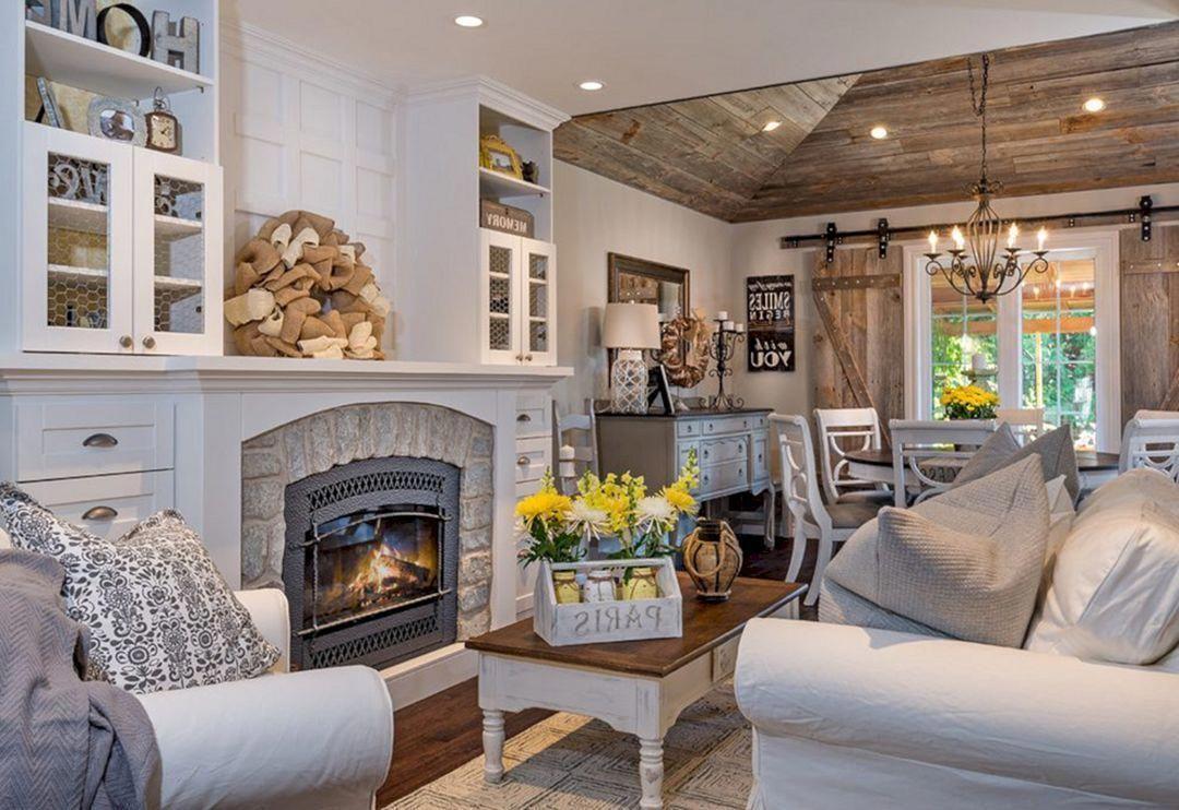 Cozy living room farmhouse style idea