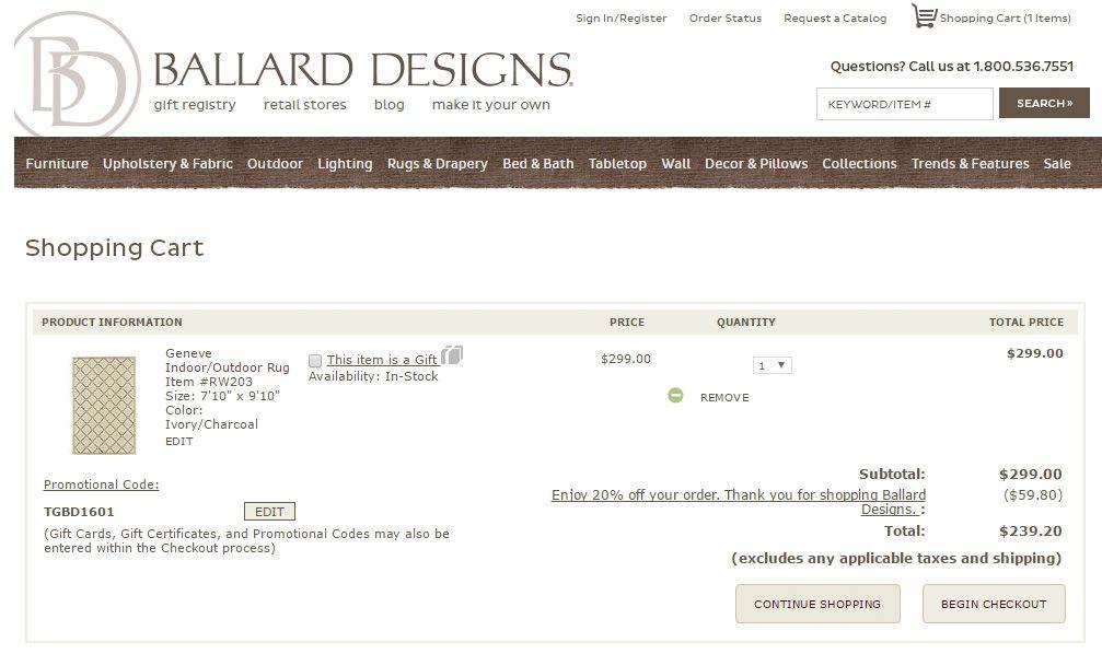 Ballard Designs Coupon Promo Codes Off Code Discount Vistaprint Coupons July