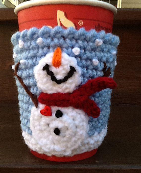 Snowman Cup Cozy | Bolso tejido y Bolsos