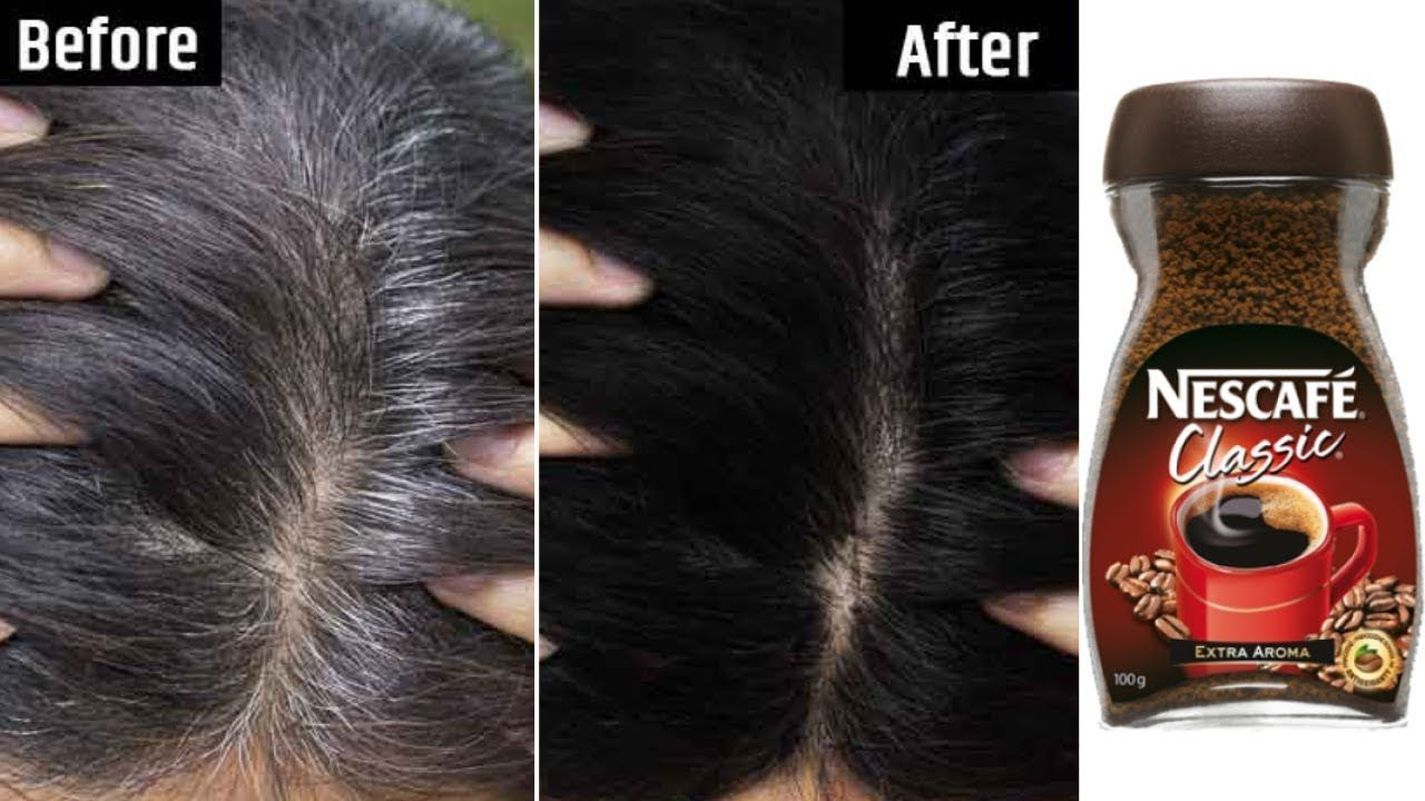 White Hair To Black Permanently In 30 Minutes Naturally Coffee For Jet Black At Home 100 Works Youtu Coffee Hair Dye Coffee Hair Grey Hair Home Remedies
