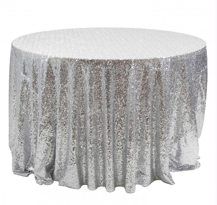 Silver Tablecloth Silver Sequin Linens Silver Weddings Sparkly
