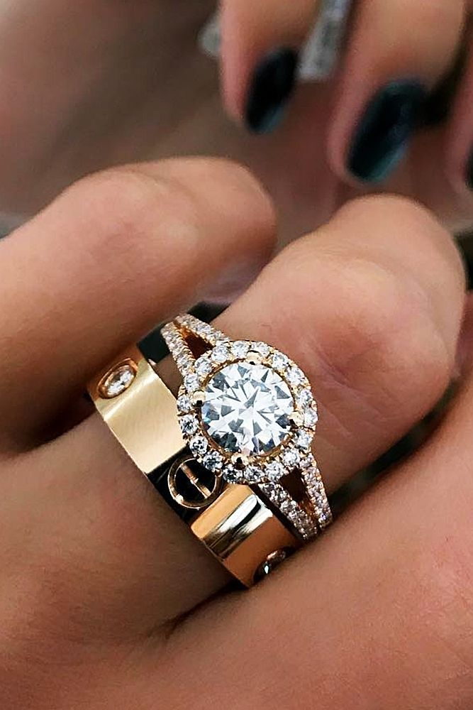 gold zinnia the solitaire details diamond with news surprise stunning brilliant earth inspired white engagement wedding ring nature rings