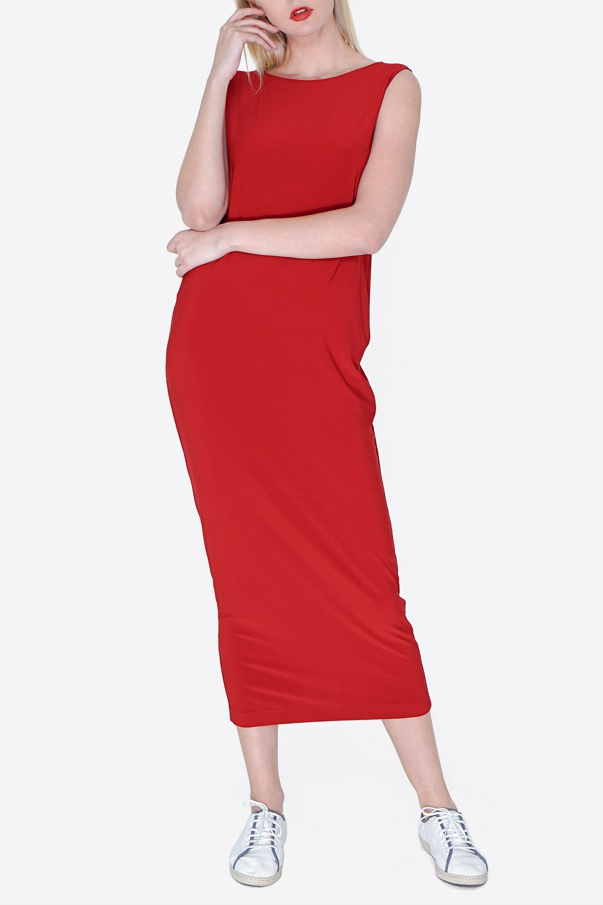 3d786e8b6a MIDI SHIFT DRESS red. Our latest addition to the SHIFT DRESS FAMILY. First  we had the SHORT version... Next we had the LONG version.