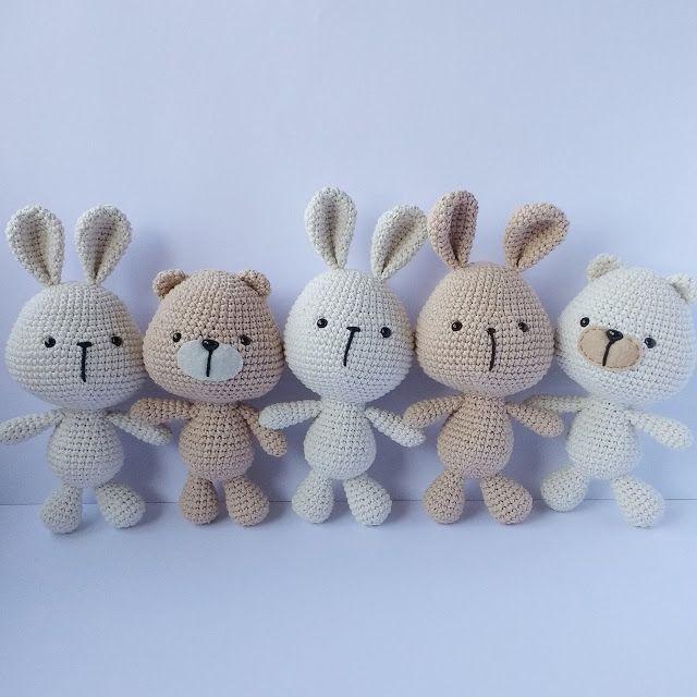 Osos y Conejos... (Es un Mundo Amigurumi)   Pinterest   Conejo, Osos ...