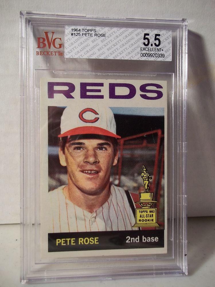 1964 Topps Pete Rose BVG EX+ 5.5 Baseball Card 125 MLB
