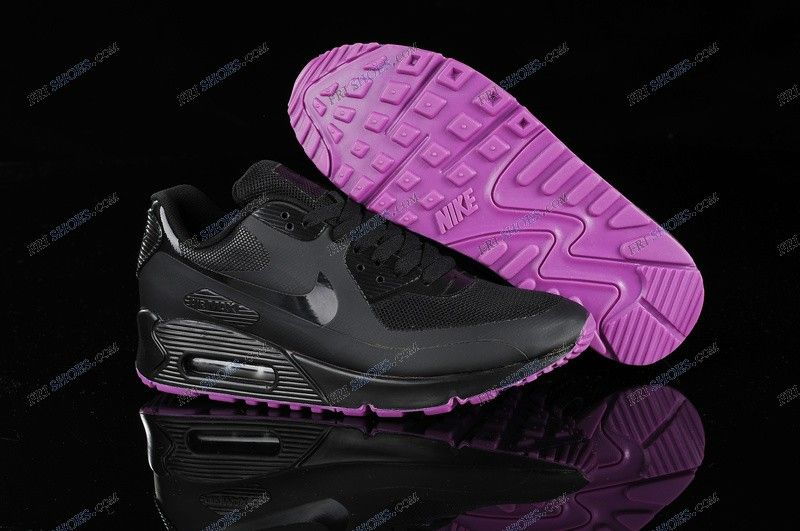 new design check out buy sale Womens Nike Air Max 90 Hyperfuse Black Purple nike shop Regular ...