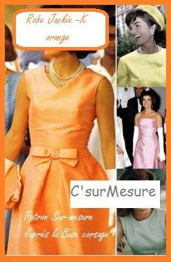 Couture Jackie Sur K Robe Orange À Faire Mesure Vintage 4Zq8U6wZ