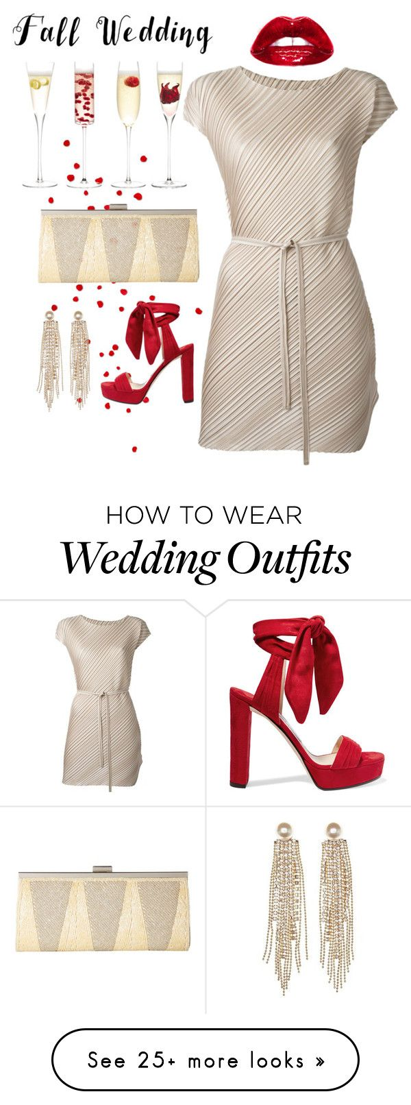 """""""Guest"""" by fallinginlovewithlove on Polyvore featuring LSA International, Rick Owens, Jimmy Choo, Nina, Charlotte Russe and fallwedding"""
