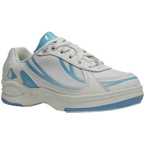 Pyramid Path Sport Womens Bowling Shoes (White/Light Blue, Size 8) -- More info could be found at the image url.
