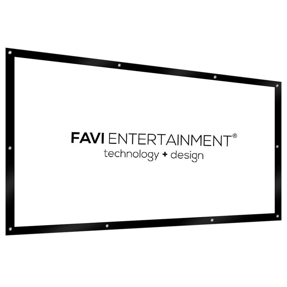 "FAVI 100"" DIY Projector Screen, PVC WhiteFlex Black"