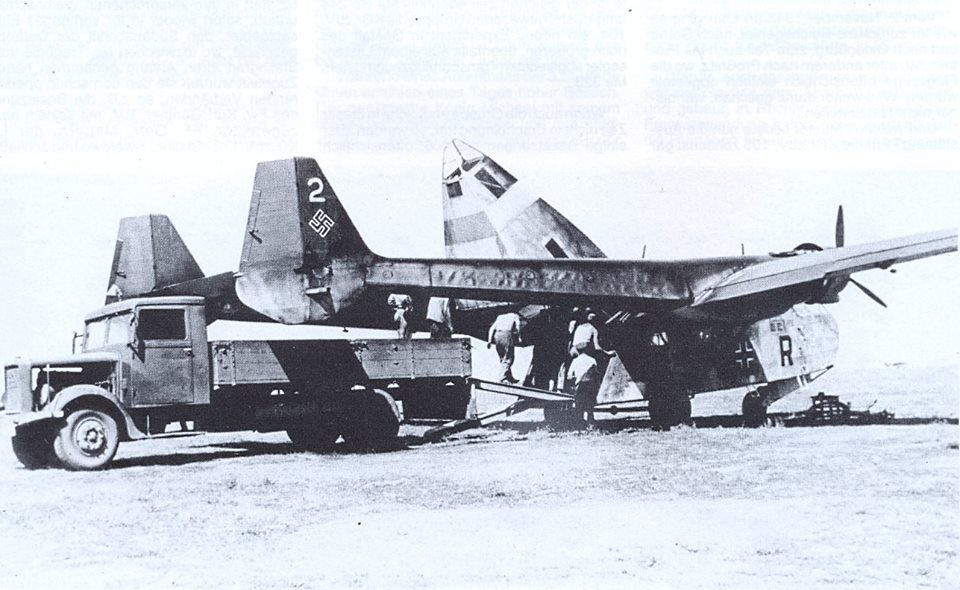 """And off they went again... Go 244 W.Nr. unknown """"4V+BR"""" , 7./KGr.zbV 106, Eastern Front, Summer 1942."""