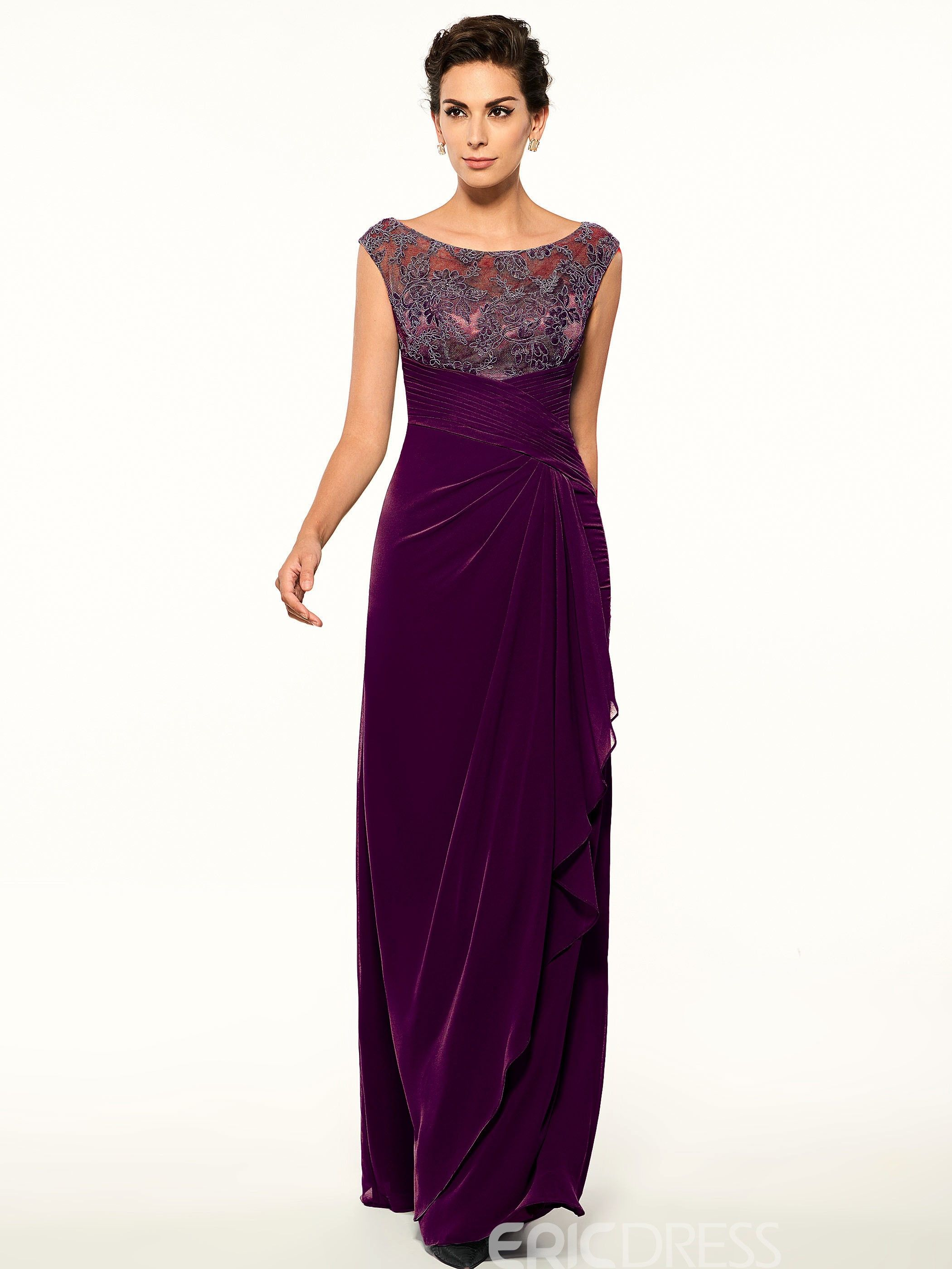 65014ae34c4 Ericdress Long Lace Mother of the Bride Dress 12747599 - Ericdress ...