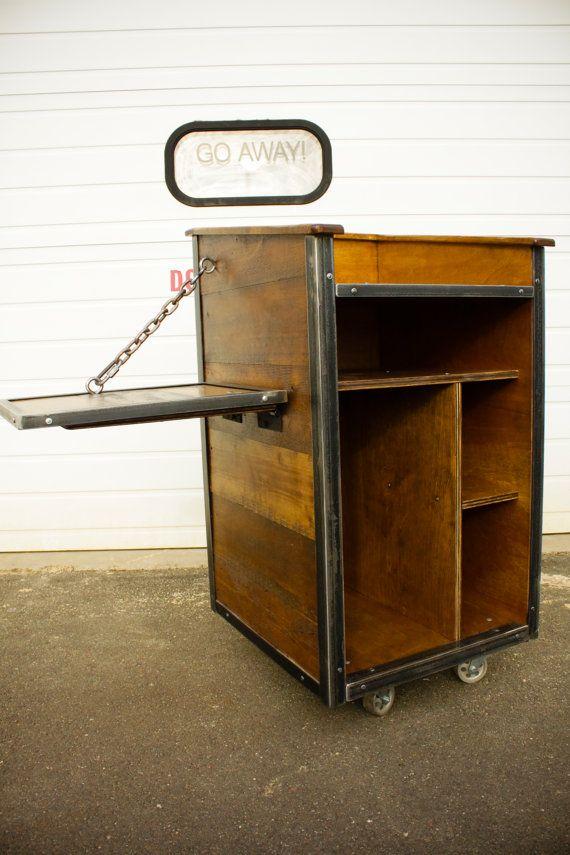 Industrial POS Cart or Hostess Podium by oldeschoolcraftsmen