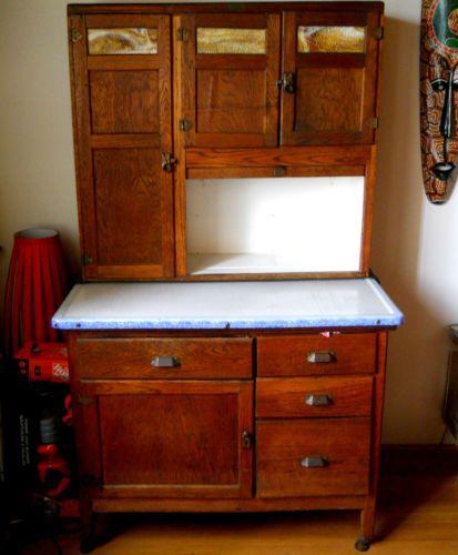 Vintage Wilson Oak Hoosier Kitchen Cabinet Cupboard Buffet | eBay - Vintage Wilson Oak Hoosier Kitchen Cabinet Cupboard Buffet Ideas