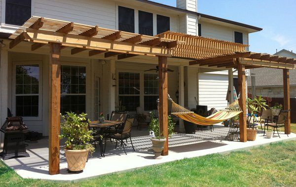 Wood Pergolas Outside West Facing Windows Plant Vines To
