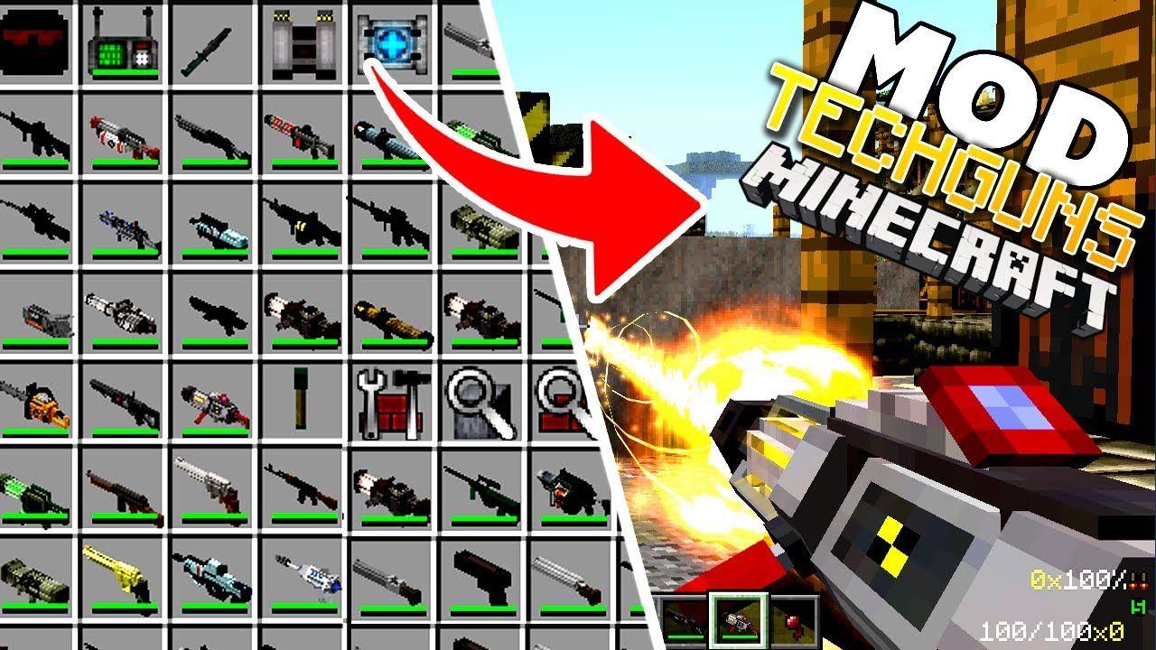 Techguns Mod 1 12 2 1 7 10 Guns Worldgen Npcs Machines 9minecraft Net Minecraft Blueprints Minecraft Minecraft Mods For Pe
