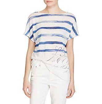 Lauren Ralph Lauren® Linen Short-Sleeve Top