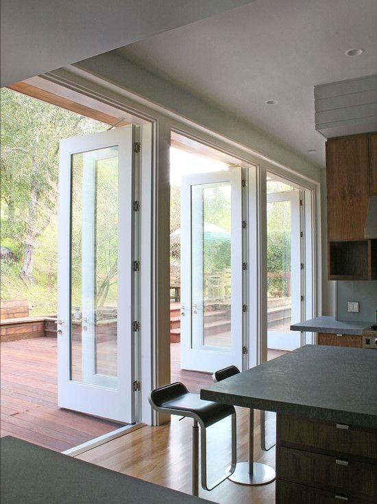 Layout With Kitchen Opening To Deck Island Modern Kitchen Design
