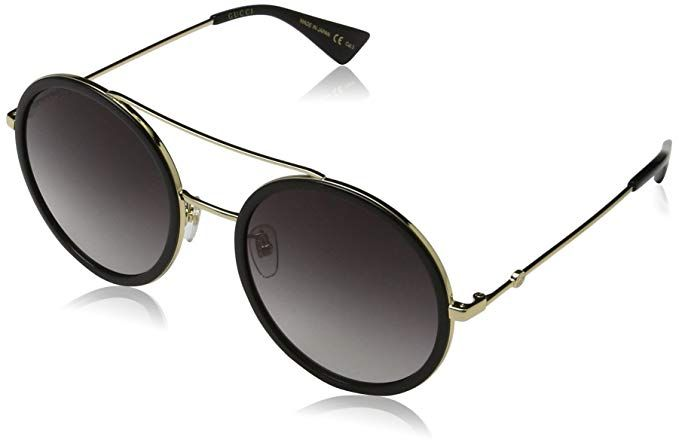 6c4c6aed3c Gucci 0061S 001 Gold 0061S Round Sunglasses Lens Category 3 Size 56mm