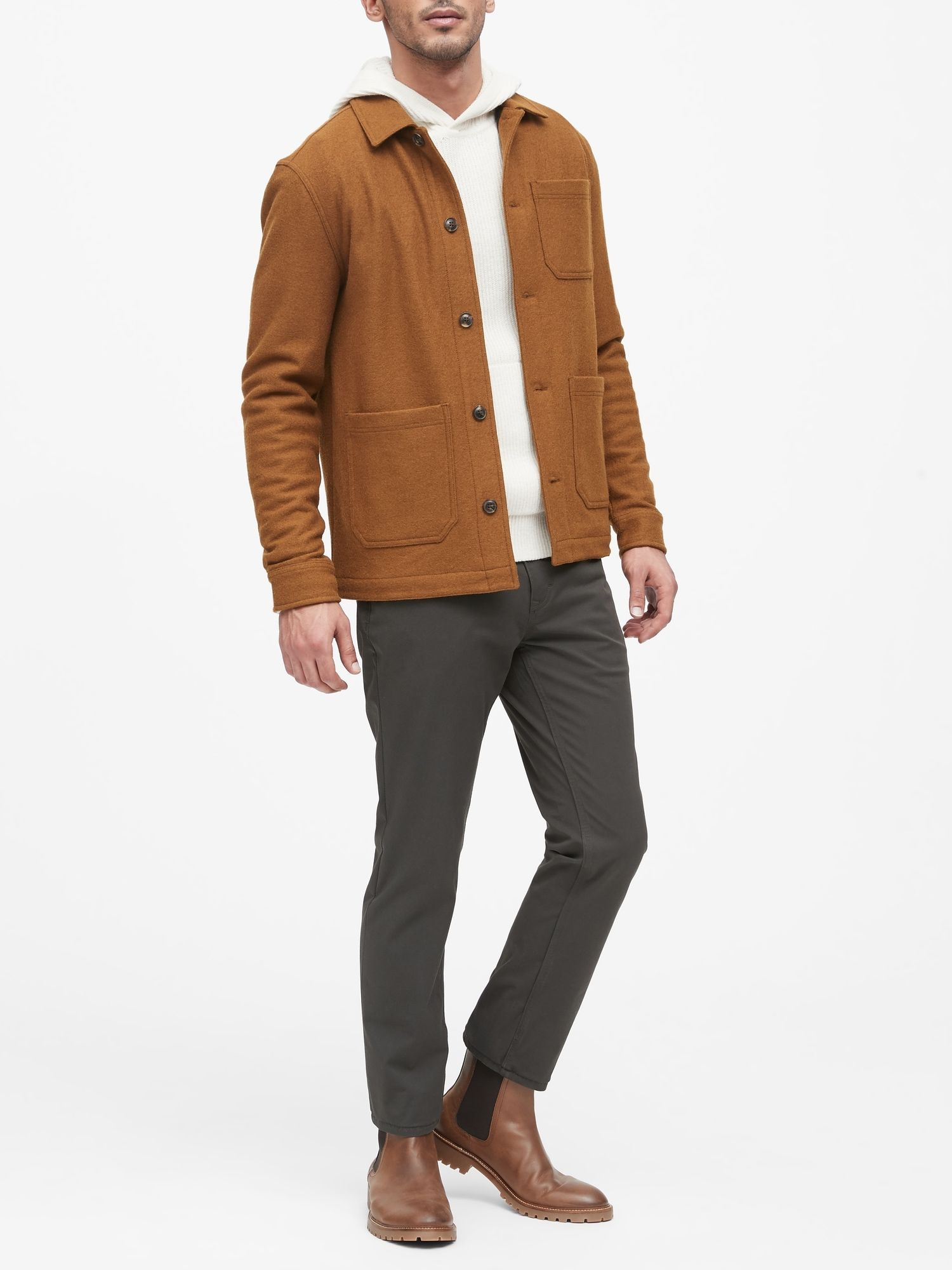 Wool Blend Chore Jacket Banana Republic Refined Clothing Business Casual Outfits Chore Jacket [ 2000 x 1500 Pixel ]