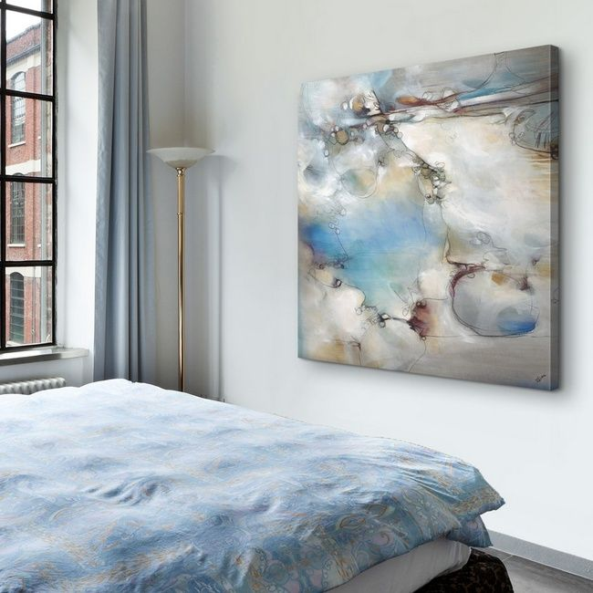 Serene Abstract Art In An Airy Bedroom Great Big Canvas Abstract Art Collection Abstract Abstract Wall Art