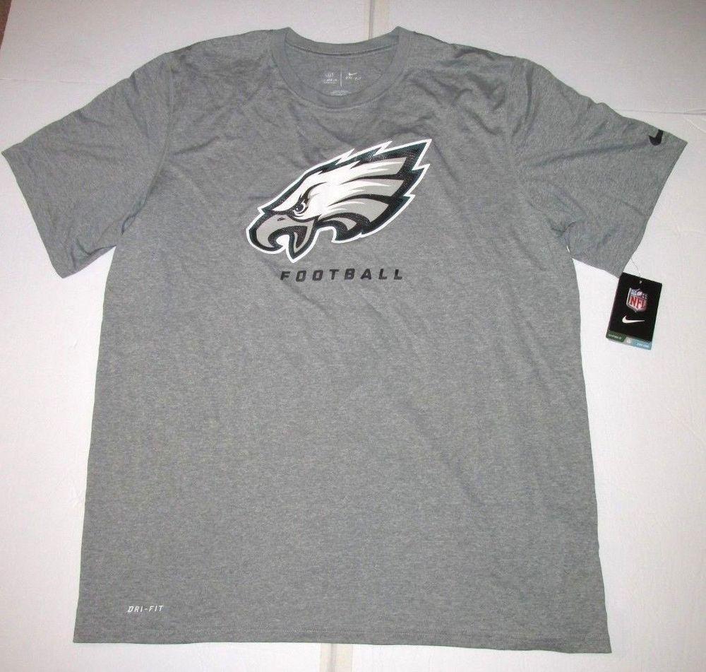 Nike Philadelphia Eagles Dri Fit Football Shirt Mens Xl Grey Nike Philadelphiaeagles With Images Mens Shirts Football Shirts Mens Xl
