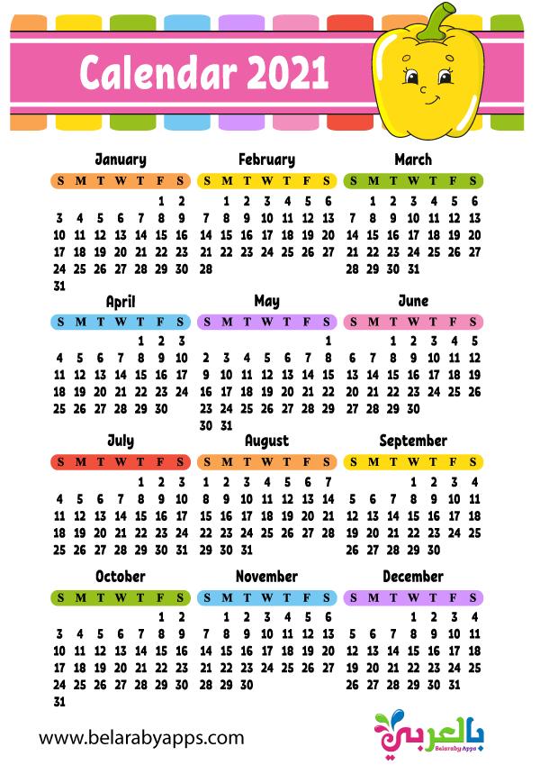 تحميل التقويم الميلادي 2021 للاطفال Pdf نتيجة العام الجديد مع خلفيات اطفال كرتون بالعربي نتعلم Templates Printable Free Calendar Calendar Printables
